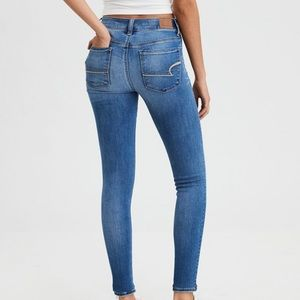 Light Blue Super High Waisted Jeggings/Jeans